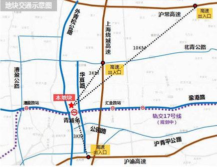 图说:青浦地铁交通示意图.来源:上海观察-青浦区又要放大招 将建图片